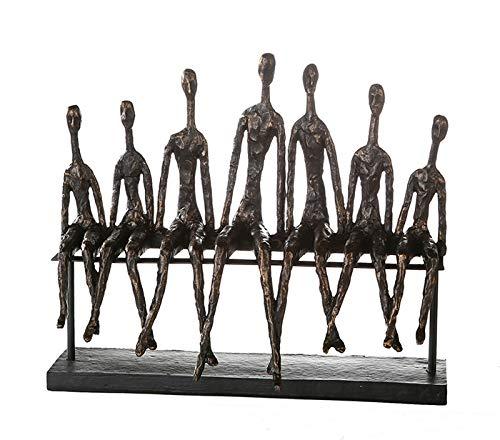 Sehr große Skulptur COMMUNITY bronze aus Poly Länge 40 cm Höhe 35 cm
