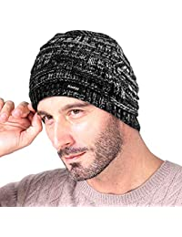 Knotyy Unisex Woolen Beanie Cap (Smudgy-Black,Free Size)