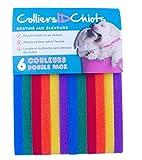 UNLEASHED.DOG colliersidchiots–12Welpen ID-Bändern | fabriqu & # x17d; mit der Marke Klettverschluss ¨ Reißverschlüsse | Größe 40cm/lebendigen Farben