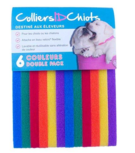 UNLEASHED.DOG colliersidchiots-12Welpen ID-Bändern | fabriqu & # x17d; mit der Marke Klettverschluss ¨ Reißverschlüsse | Größe 40cm/lebendigen Farben