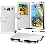 Samsung Galaxy E7 SM-E700 White Farbe PU Lederetui