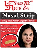 #5: SwasTik 卐 Nasal Strips for Nasal Congestion Relief, Drug Free (Pack of 10 Strips)