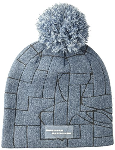 Under Armour Damen UA Graphic Pom Beanie Mütze, Utility Washed Blue(496), OSFA - Pom Beanie-mütze