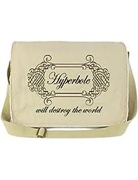 Dancing Participle Hyperbole Will Destroy The World Putty Raw Edge Canvas Messenger Bag