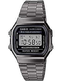Casio Reloj Digital para Hombre de Cuarzo japonés con Correa en Acero Inoxidable A168WEGG-1AEF