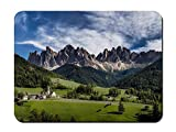 "BGLKCS Mouse Pad (8.6""x7.1"") - Italy South Tyrol Val di Funes - Customized Rectangle Non-Slip Rubber Mousepad Gaming Mouse Pad"