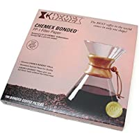 Chemex FP-1 Coffee Filters with 100-Chemex Bonded Unfolded 12