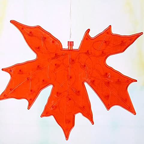 Nene–Stivali da 30cm LED Maple Leaf ristorante foglie lampada Design Ciondolo