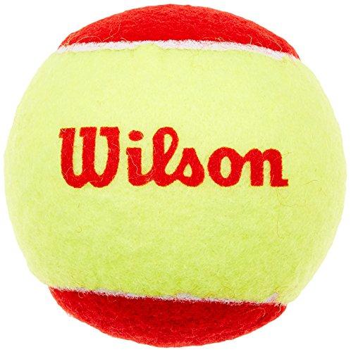Wilson Unisex Kinder Tennisball, 12er Pack, Rot/Gelb, Starter Easy Red, WRT137100