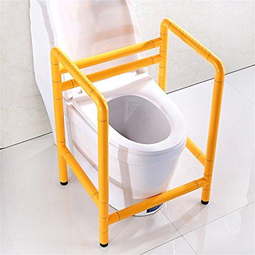 Edelstahl Antibakterielle Nylon Toilette Zaunhilfen Regale Ältere Schwangere Get Up Griff / Handlauf ( Farbe : Gelb )