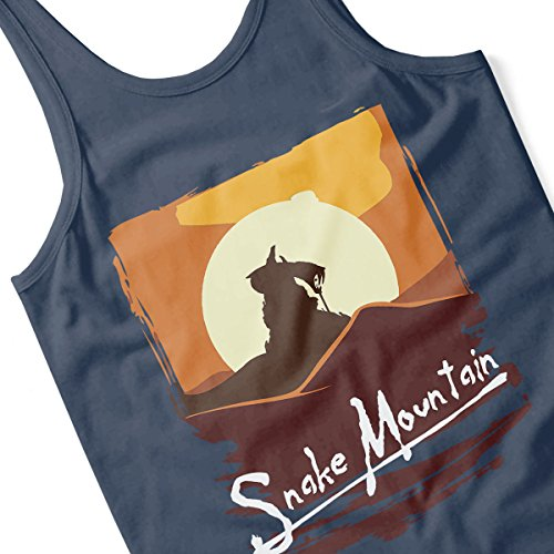 Apocalyse Now Snake Mountain He Man Masters Of The Universe Women's Vest Navy Blue