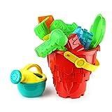 LD@Il giocattolo della spiaggia Summer Set Sabbia ore di check secchio secchio di plastica per bambini Dimensioni 3 pezzi