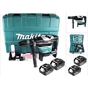 Makita DHR 400 G2U 2 x 18 V / 36 V Li-Ion Akku Bohrhammer Kombihammer SDS-Max im Koffer + 2 x 6,0 Ah Akku – ohne…