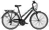 Damen Fahrrad 28 Zoll schwarz - Pegasus Piazza Citybike - Shimano Kettenschaltung, STVZO Beleuchtung