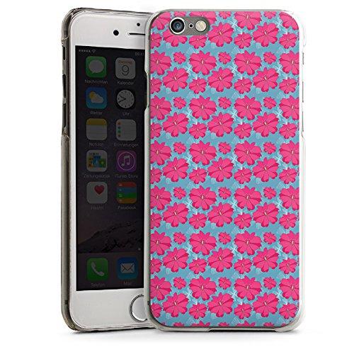 Apple iPhone 6 Housse Étui Silicone Coque Protection Fleurs Fleurs Rose vif CasDur transparent
