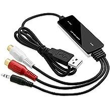Top-Longer USB 2.0 Scheda Di Acquisizione Audio per MAC OS X & Windows 10 - Nastro al Convertitore mp3 per La Musica DIY