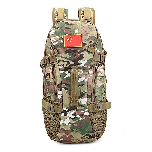 e-jiaen zaino 75L alta capacità borse a tracolla/borsa per archiviazione o organizzatore di Comping trekking viaggio alpinismo sport accessori da pesca, Black C3