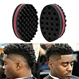 Brosses-éponges Magiques Eponge À Cheveux Twists pour Cheveux Crépus, Boucles, Dreadlocks, Style Afro