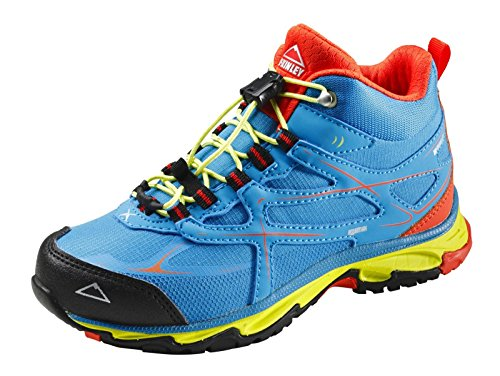 McKINLEY Unisex-Kinder Evosome MID Aquamax Trekking-& Wanderstiefel, Blau (Blue/Red/Green 904), 34 EU