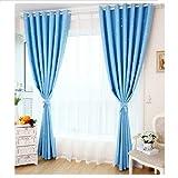 Tende oscuranti, Zzm stelle modello Kids Room tenda oscurante tenda termica isolante per camera da letto 100cm x 250cm Blue