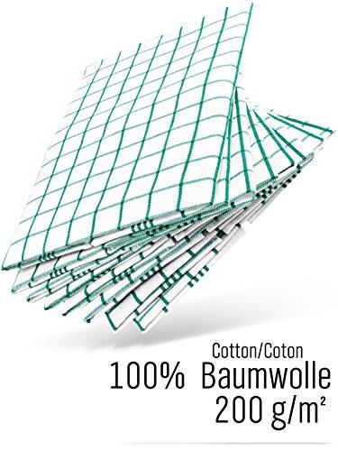 ücher Geschirrtuch Trockentücher Küchen-handtuch 100% Baumwolle 50x 70 grün grünes 6er Set ca. 200g/qm (Aqua-geschirr-sets)