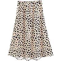 Yvelands Ladies Sexy Perspective Bag Hip Wild Leopard Falda Look Sexy en un Vestido Informal con Estampado de Leopardo de Cintura Alta