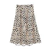 MYMYG Damen Kurzer Rock Leopard Bodycon Frauen Leopardenmuster Lässige Kleidung schauen sexy hoch tailliert Gedruckter Rock hohe Taille leistift Hüften-Stretchy Basic Minirock