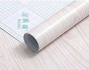 CVANU® Self Adhesive Wood Vinyl Wallpaper Waterproof Old Furniture Vinyl Stickers Wooden Door Wardrobe Desktop PVC Wall Papers Cv366 24''x240''inch