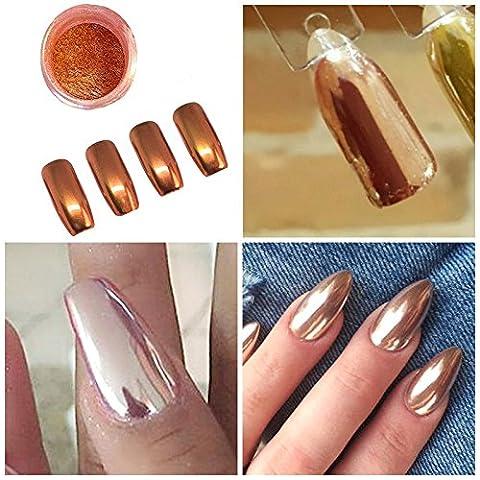 ILOVEDIY Poudre Effet Holographique Ongle Laser Effet Arc en Ciel Nail Art Pigment Chrome (Rose d