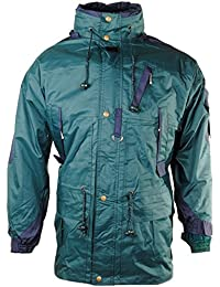 Men's Double Layer Windproof Concealed Hood Multi Pocket Cargo Jacket Coat