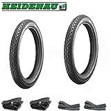 6 teiliges Reifen SET - 2x Heidenau Reifen K36/1 46J - (2 3/4 x 16 oder 2,75-16) + 2x Schläuche + 2x Felgenbänder