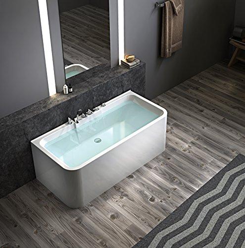 Exclusive freistehende Badewanne an 3 Seiten geschlossen Acryl mit Armatur 160cm