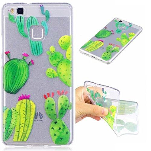 Cover iPhone 6 PLUS Silicone ultra trasparente sottile TPU morbido Custodia Modello di arte cover-panda cactus