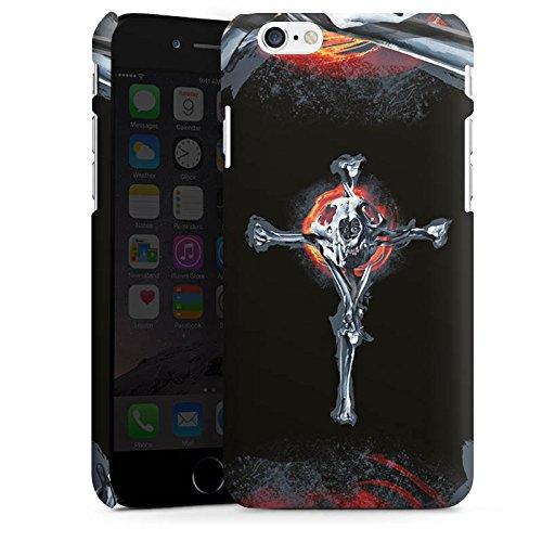 Apple iPhone X Silikon Hülle Case Schutzhülle Löwe Knochen Totenkopf Premium Case matt