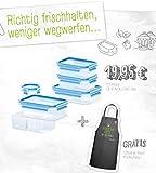 Emsa Clip&Close 3D Vorratsdose Frischhaltedose 6tlg.+Kochschürze