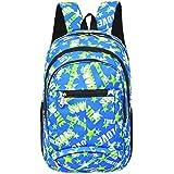 Super moderno unisex nylon bolso de escuela de los niños mochila libro mochila fresco mochila deportiva, mujer Infantil hombre, Blue1, medium