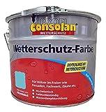 Consolan Profi Wetterschutzfarbe RM 218 taubenblau 10 Liter