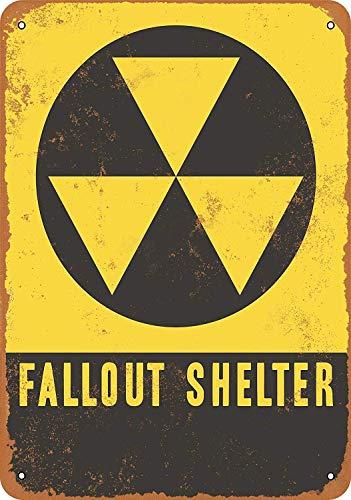 MNUT Fallout Shelter Blechschild, 20,3 x 30,5 cm