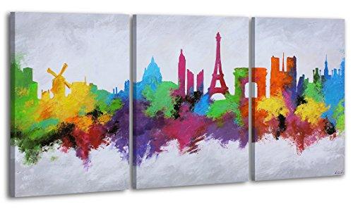 Ciudad de amor / El cuadro dibujado con pinturas acrílicas