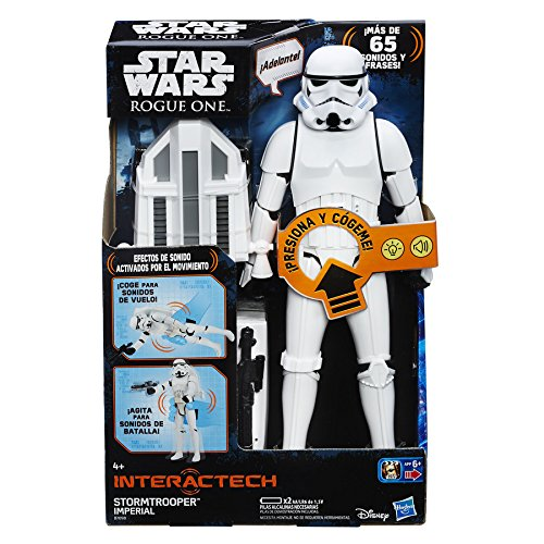 Star Wars Rogue One – Figura Stormtrooper Imperial, 30 cm, con luces y sonidos (Hasbro B7098105)