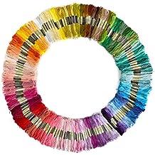150 piezas madejas de hilos de diferentes colores hilo dental 100% lgodon – para bordar costura [version:x7.7] by DELIAWINTERFEL