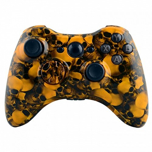 Mod Freakz Xbox 360 Controller Shell/Buttons Hydro Dipped Hades Yellow Skull by Mod Freakz