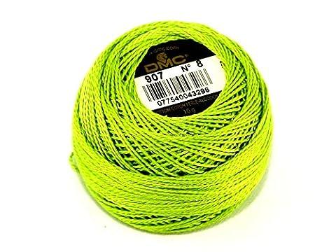 DMC fil coton perle taille 8–907–par 10g–Boule