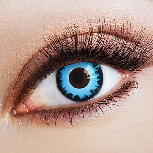 aricona Kontaktlinsen Farblinsen deckend blaue Kontaktlinsen farbig bunte Jahreslinsen ohne Stärke