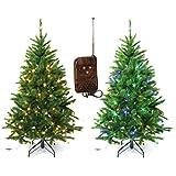 Gartenpirat Künstlicher Weihnachtsbaum 210 cm mit Beleuchtung Bunt Fernbedienung
