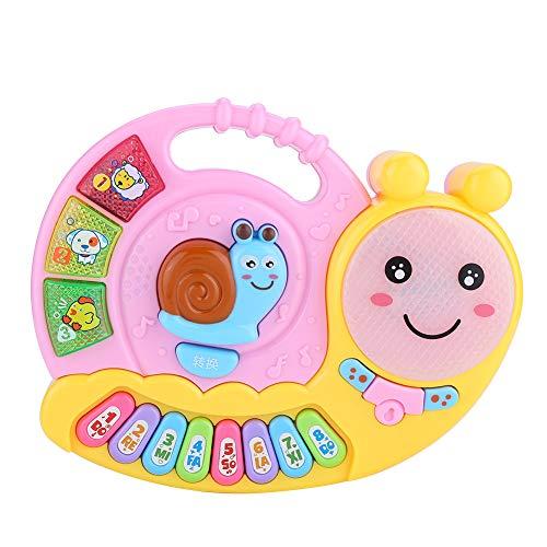 Musical piano baby infant educational carino lumaca image auditivo tattile giocattolo di sviluppo(pink)