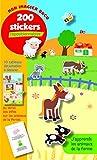 J'apprends les animaux de la ferme - Mon imagier Docu - 200 stickers repositionnables