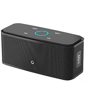 DOSS Soundbox Portable Wireless Bluetooth V4.0 Lautsprecher Subbass Leistungsstarker 12 Watt mit Touch Sensible [Schwarz]