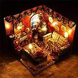Kinder Spielzeug Puppenhaus mit Möbeln Kreative Geschenke Montieren Sie ein kleines Haus für Weihnachten Miniatur 3d Gewächshaus Craft Kits für Erwachsene - Holzpuppen Haus mit Möbeln und Zubehör, Ler