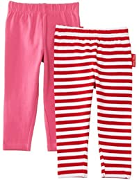 Toby Tiger Baby Girls Organic Pack Striped Set of 2 Leggings